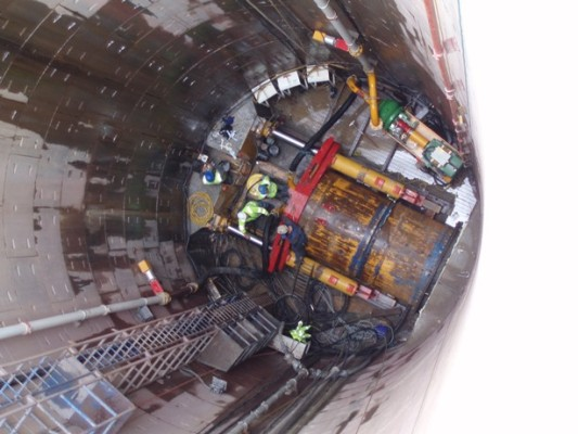 Micro-tunnelling well underway